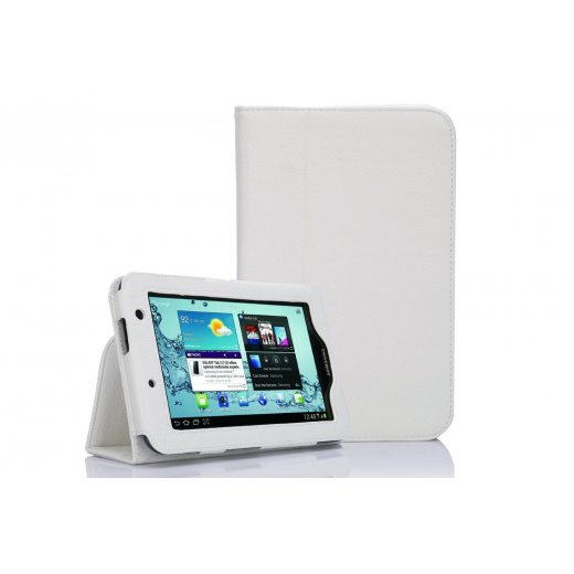 Multi-Function Leather Stand Case for Samsung Galaxy Tab 2 7.0 P3100 White