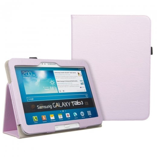 Multi-Function Leather Stand Case for Samsung Galaxy Tab 3 10.1 P5200 B.Pink