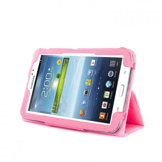 Multi-Function Leather Stand Case for Samsung Galaxy Tab 3 7.0 P3200 B.Pink
