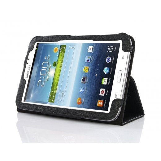 Multi-Function Leather Stand Case for Samsung Galaxy Tab 3 7.0 P3200 Black