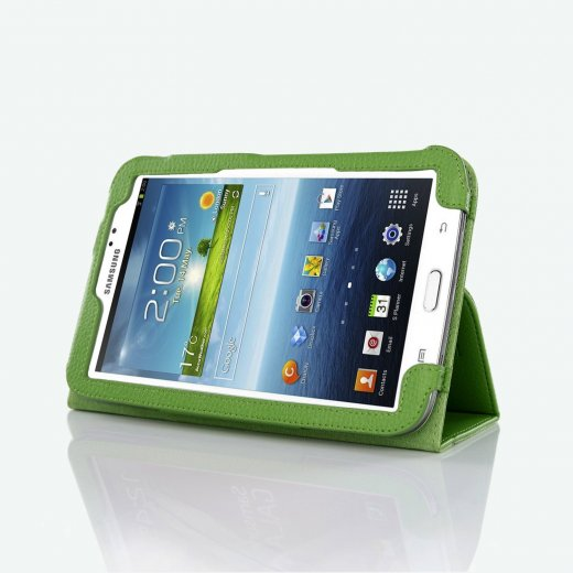 Multi-Function Leather Stand Case for Samsung Galaxy Tab 3 7.0 P3200 Green