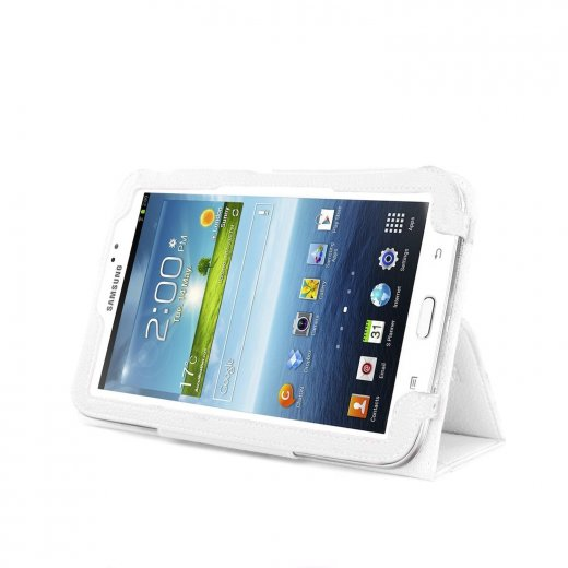 Multi-Function Leather Stand Case for Samsung Galaxy Tab 3 7.0 P3200 White