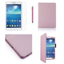 Multi-Function Leather Stand Case for Samsung Galaxy Tab 3 8.0 T3100 B.Pink