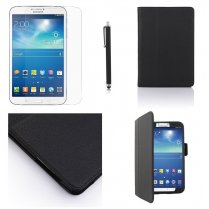 Multi-Function Leather Stand Case for Samsung Galaxy Tab 3 8.0 T3100 Black
