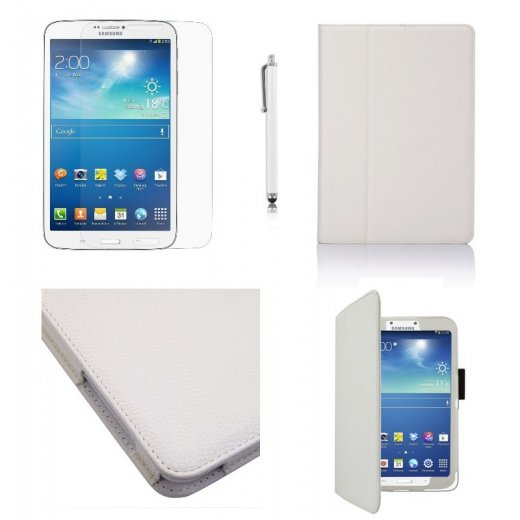 Multi-Function Leather Stand Case for Samsung Galaxy Tab 3 8.0 T3100 White
