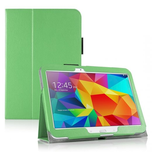 Multi-Function Leather Stand Case for Samsung Galaxy Tab 4 10.1 Green