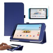 """Multi-Function Leather Stand Case for Tesco Hudl 2 8.3"""" Blue"""