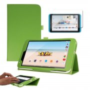 """Multi-Function Leather Stand Case for Tesco Hudl 2 8.3"""" Green"""
