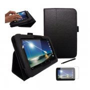 "Multi-Function Leather Stand Case for Tesco Hudl 2013 7.0"" Black"