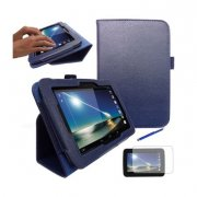 "Multi-Function Leather Stand Case for Tesco Hudl 2013 7.0"" Blue"