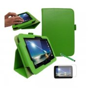 "Multi-Function Leather Stand Case for Tesco Hudl 2013 7.0"" Green"