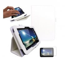 "Multi-Function Leather Stand Case for Tesco Hudl 2013 7.0"" White"
