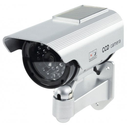 Outdoor Solar Powered CCTV Dummy Camera IR LED