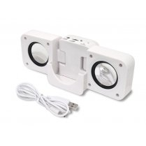 Portable Travel Folding Speaker White