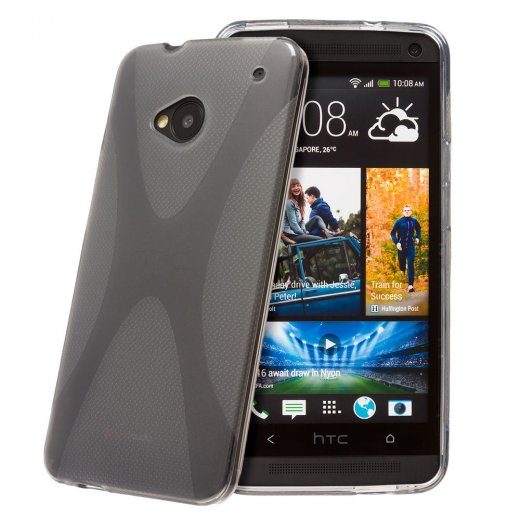 Smoke TPU X-Style Gel Case for HTC One M7