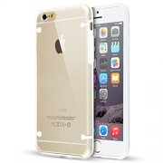"""Ultra Slim 0.8mm Clear Back with TPU Rim Case for Apple iPhone 6 4.7"""" White"""