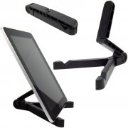 Universal Tablet Portable Fold-Up Stand Black